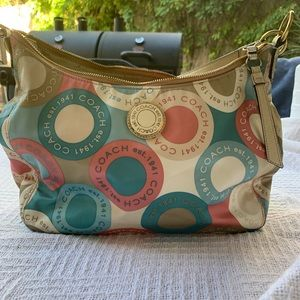 COACH signature snaphead tote/shoulder bag F19280